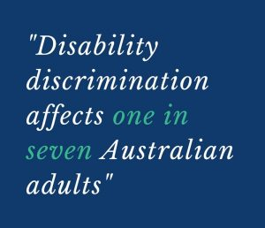quote saying one in seven adults face discrimination