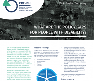 Cover shot of Policy Plain Language Flyer