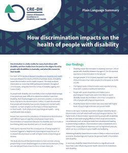 Cover of PE Summary of Discrimination Flyer