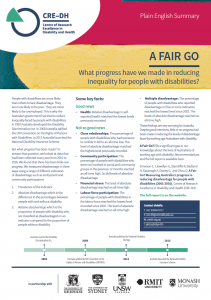 Summary of the CRE's A Fair Go Report
