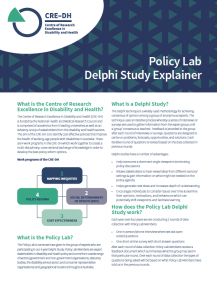 Summary of how the CRE's Policy Lab works