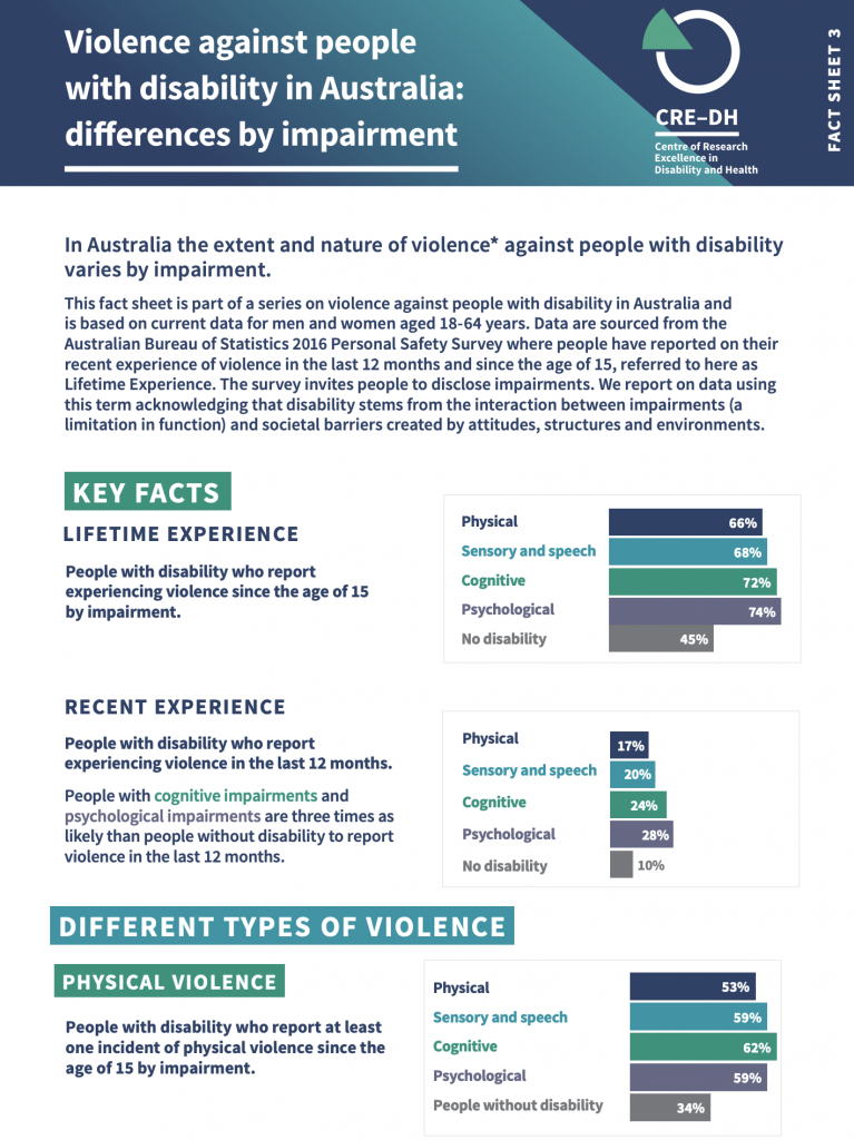 Fact Sheet 3 - Violence and impairment type